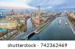 aerial panorama of moscow... | Shutterstock . vector #742362469