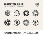 set of eight minimalistic... | Shutterstock .eps vector #742368235