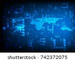 technology background  data... | Shutterstock .eps vector #742372075