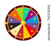 casino fortune. modern cartoon... | Shutterstock .eps vector #742376341