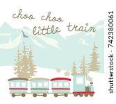 baby train pattern | Shutterstock .eps vector #742380061