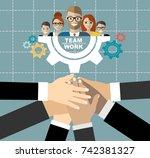 flat design illustration... | Shutterstock .eps vector #742381327