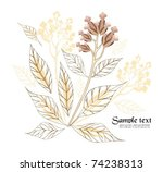 holiday floral background easy... | Shutterstock .eps vector #74238313