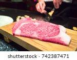 kobe beef  beef  meat  raw beef | Shutterstock . vector #742387471