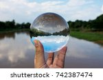 Crystal Ball Display A Clear...