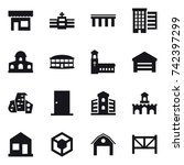 16 vector icon set   shop ... | Shutterstock .eps vector #742397299