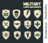 set of military and military... | Shutterstock .eps vector #742401091