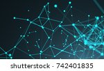 abstract connection dots.... | Shutterstock . vector #742401835