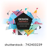 vector  abstract geometric... | Shutterstock .eps vector #742403239