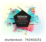 vector  abstract geometric... | Shutterstock .eps vector #742403251