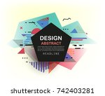 vector  abstract geometric... | Shutterstock .eps vector #742403281