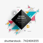 vector  abstract geometric... | Shutterstock .eps vector #742404355