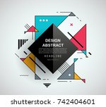 vector  abstract geometric... | Shutterstock .eps vector #742404601