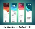 vector banner design | Shutterstock .eps vector #742406191