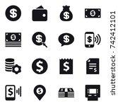 16 vector icon set   dollar ... | Shutterstock .eps vector #742412101