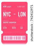 e ticket or boarding pass card... | Shutterstock .eps vector #742412971