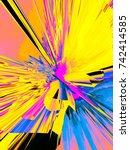 background of glitch... | Shutterstock . vector #742414585