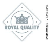 simple illustration of royal... | Shutterstock .eps vector #742416841