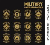 set of military and military... | Shutterstock .eps vector #742423261