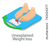 unexplained weight loss icon.... | Shutterstock .eps vector #742424377