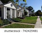 neighborhood city block of... | Shutterstock . vector #742425481