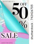 vertical sale advertisement... | Shutterstock .eps vector #742426705