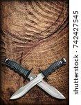 tactical combat hunting... | Shutterstock . vector #742427545