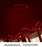 merry christmas  greeting... | Shutterstock .eps vector #742431544