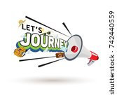 megaphone with journey text...