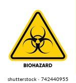caution danger sign. hazard... | Shutterstock .eps vector #742440955