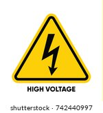 caution danger sign. hazard... | Shutterstock .eps vector #742440997