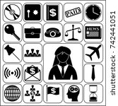 set of 22 business high quality ... | Shutterstock .eps vector #742441051