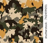 camouflage pattern | Shutterstock .eps vector #742459051