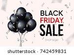 black friday sale banner....   Shutterstock .eps vector #742459831