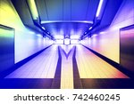 underground passage through the ... | Shutterstock . vector #742460245