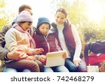 travel  tourism  hike and... | Shutterstock . vector #742468279