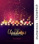 festive christmas and new year... | Shutterstock .eps vector #742469419
