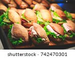 beautifully decorated catering... | Shutterstock . vector #742470301
