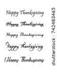 thanksgiving vector vintage...   Shutterstock .eps vector #742483465