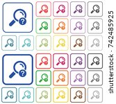 unknown search color flat icons ...   Shutterstock .eps vector #742485925