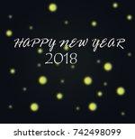 illustration of happy new year...   Shutterstock . vector #742498099