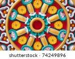 Wheel of dharma - stock photo