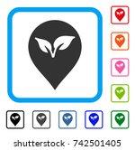 flora plant marker icon. flat...   Shutterstock .eps vector #742501405