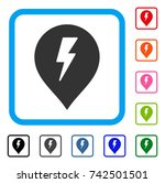 electric shock marker icon....   Shutterstock .eps vector #742501501