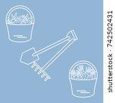 illustration of harvest  shovel ...   Shutterstock .eps vector #742502431