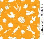 pattern  autumn seasonal...   Shutterstock .eps vector #742502449