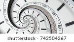 modern diamond white clock...   Shutterstock . vector #742504267