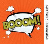 boom vector comic cloud. funny... | Shutterstock .eps vector #742511899