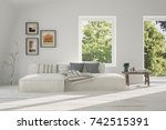 idea of white room with sofa... | Shutterstock . vector #742515391