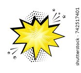 yellow comic bubble for your... | Shutterstock .eps vector #742517401